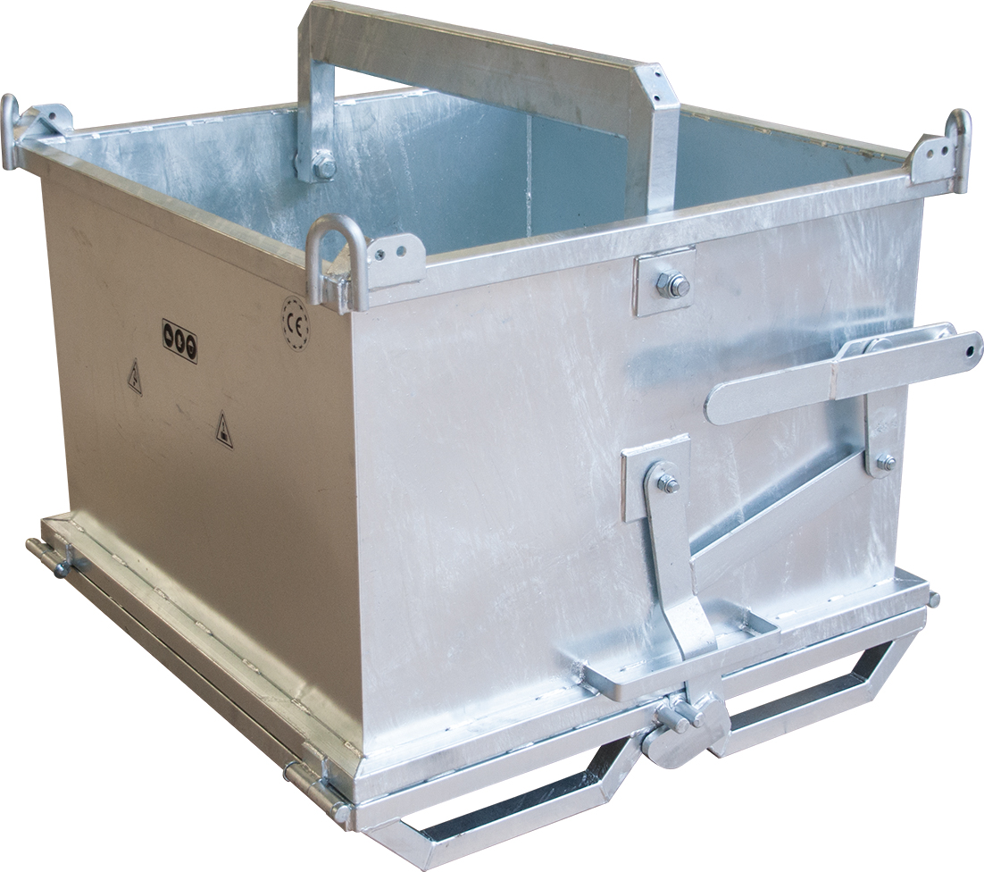 Klappencontainer 1000 x 1000 x 700 mm | verzinkt