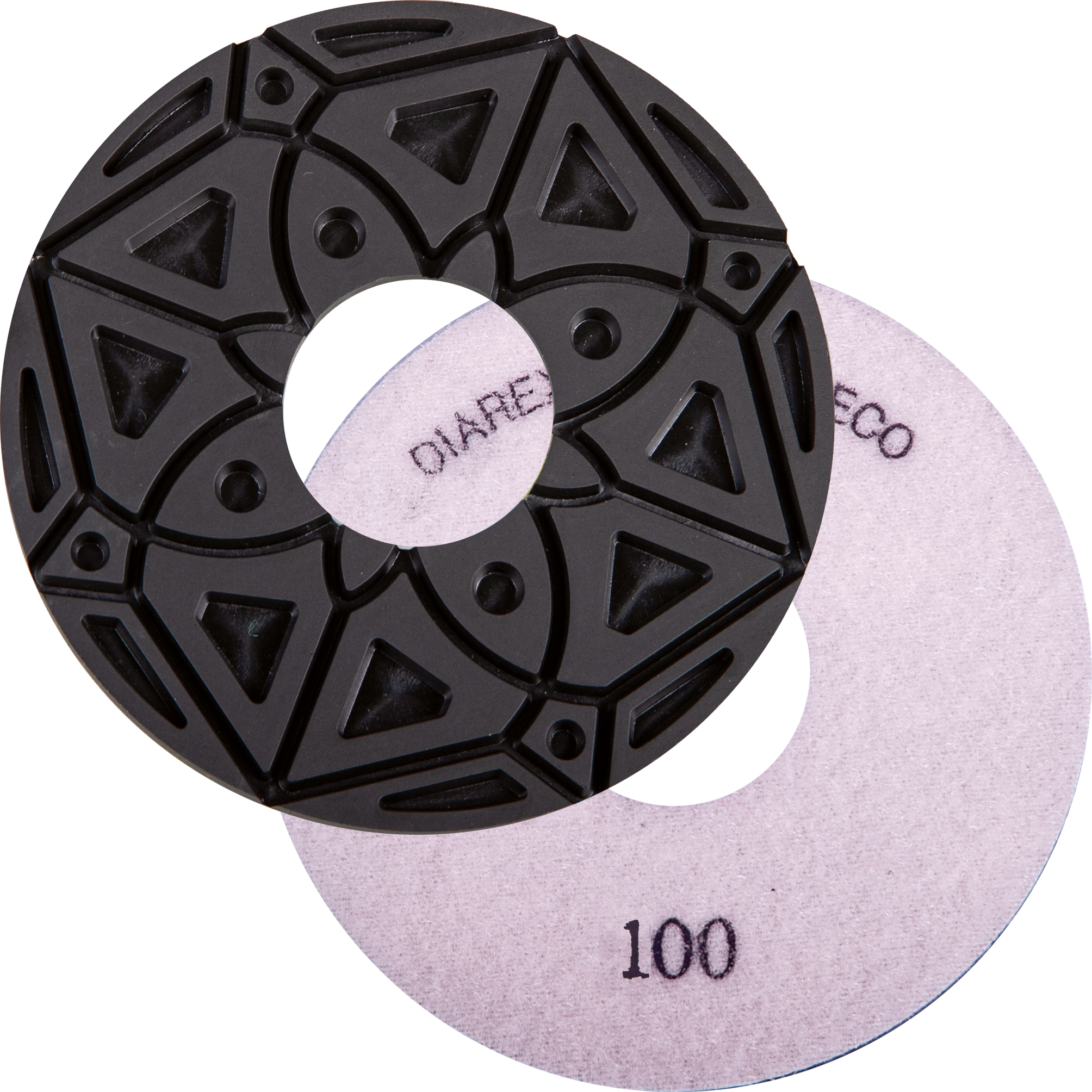 DIAREX Kantenschleifbelag KS-Edge ECO ø 130 mm | Korn 100 | Klett