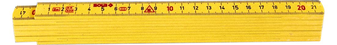 Kunststoff-Massstab 2 m