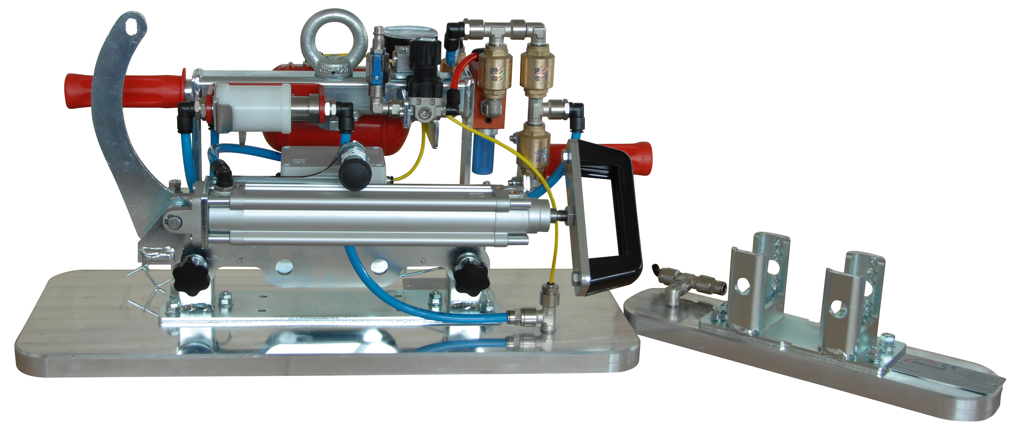 Manzelli Vakuumheber Basic VAM1HP/300 IS mit Handpumpe | wechselbare Saugplatten
