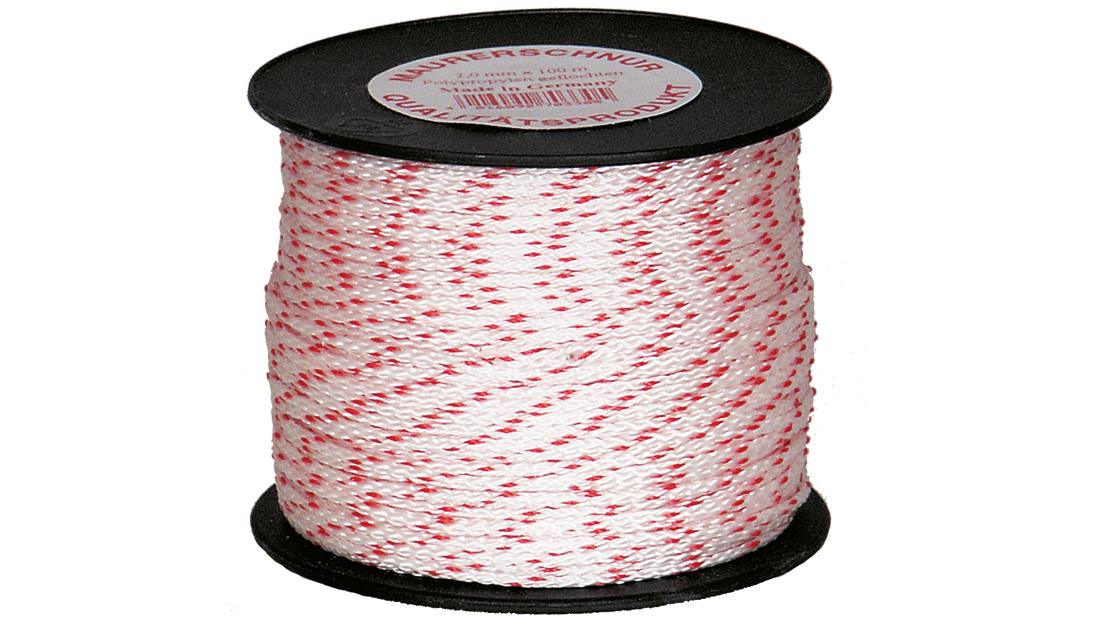 Pflasterschnur rot-weiß 2,0 mm   100m