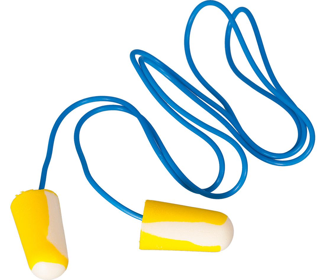 Gehörstöpsel Einweg mit Band |1 Paar
