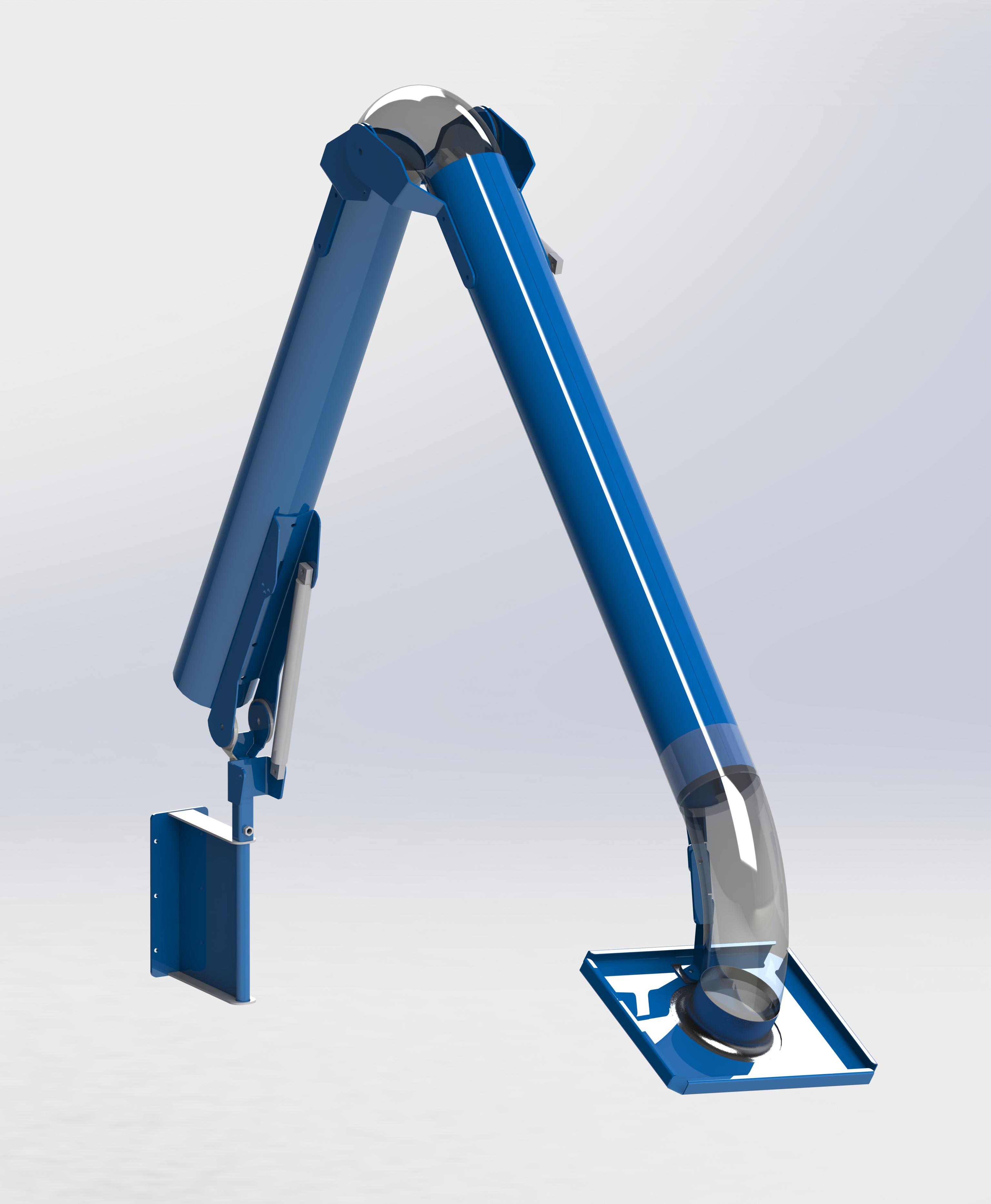 Absaugarm REXIPUR Anschluss ø 160 mm / 3 m mit Drosselklappe