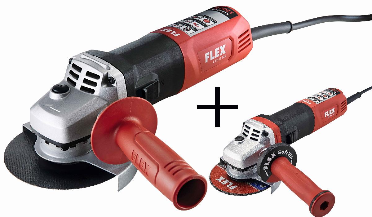 FLEX Winkelschleifer Set LBE17-11 125 + L12-11 125