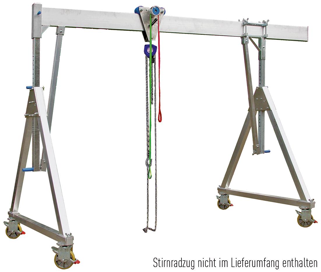 Schnellbau Portalkran 1,0 t   Trägerlänge 4 m   fahrbar