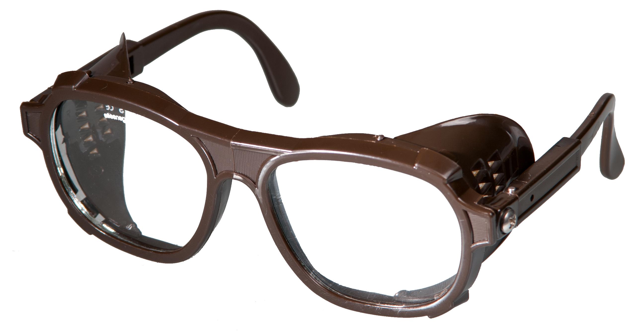 Schutzbrille Nylon Glas braun