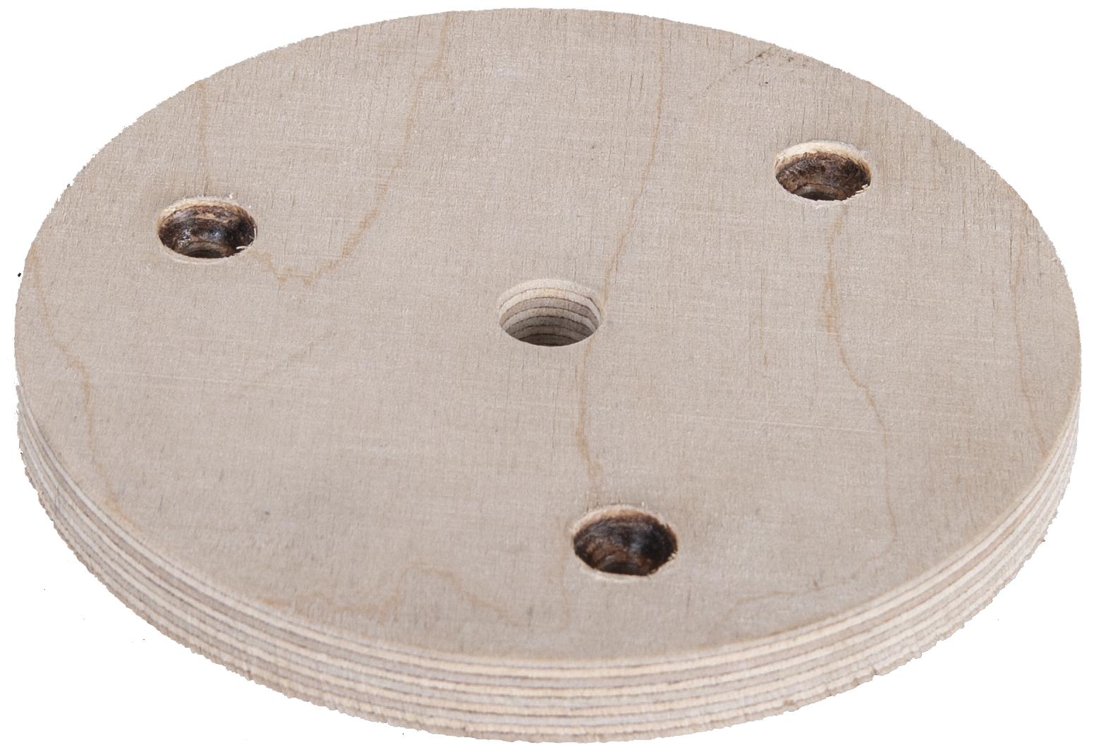 Holz für Spannteller ø130mm für Grabmalplattengreifer GPM 1000