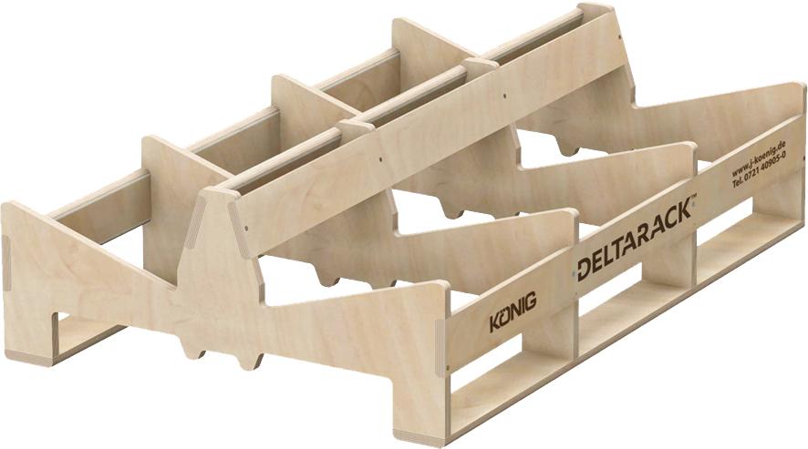 Deltarack Transportgestell Holz A1 1200 x 800 x 338 mm | 600kg