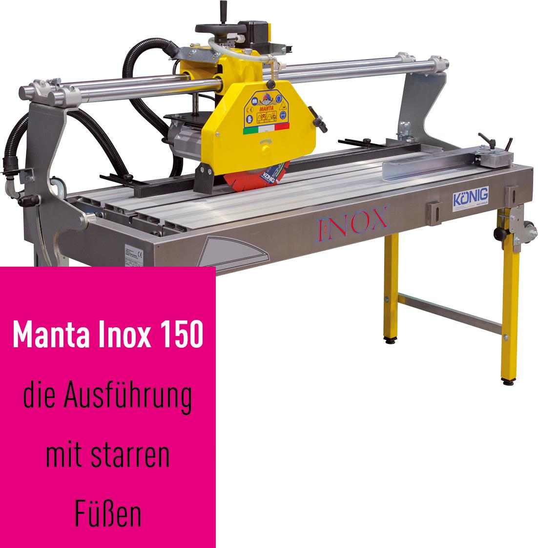 Baustellensäge MANTA INOX 150