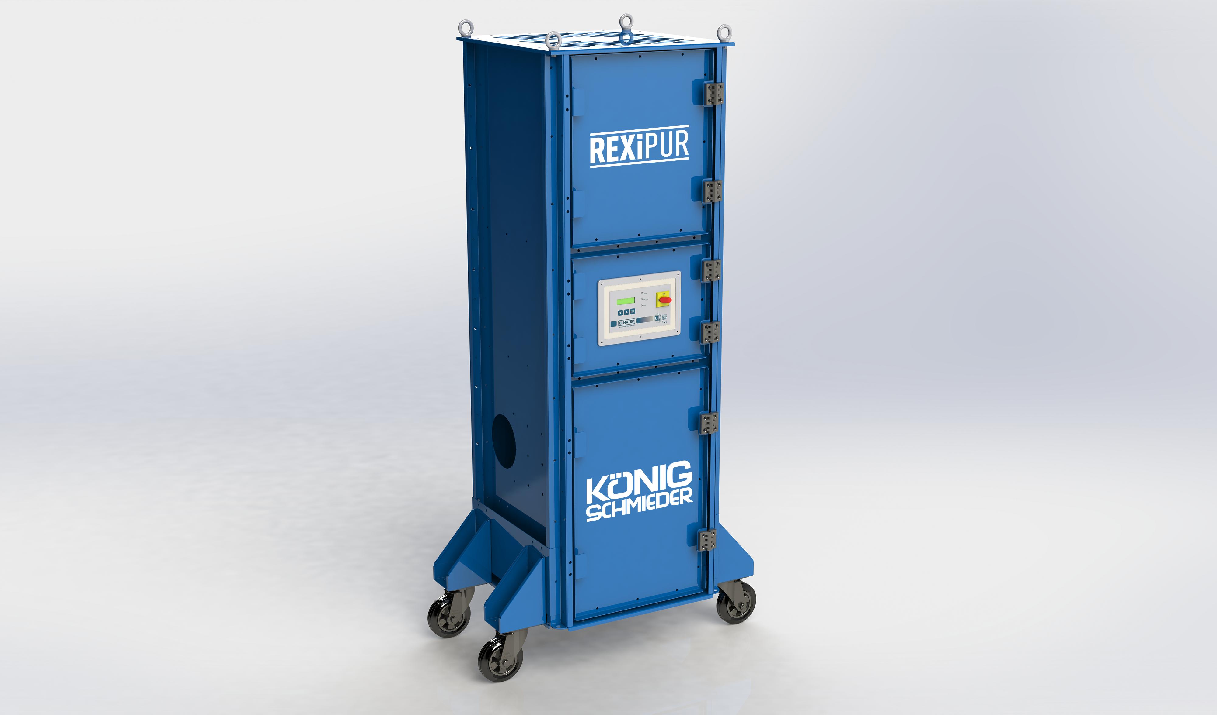 Mobiler Arbeitsplatzentstauber REXIPUR 2.2 Grundgerät / pneumatische Filterabreinigung