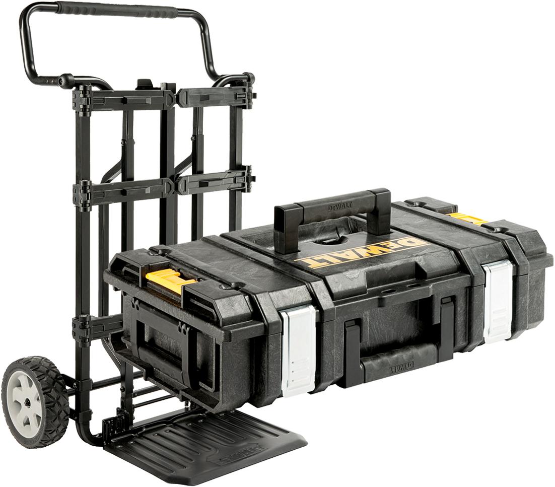 Kunststoff Transportboxsystem mit Trolley Dewalt