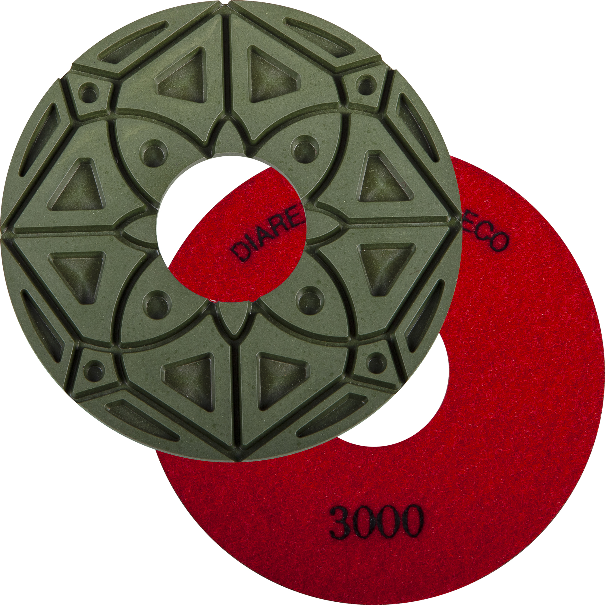 DIAREX Kantenschleifbelag KS-Edge ECO ø 130 mm | Korn 3000 | Klett