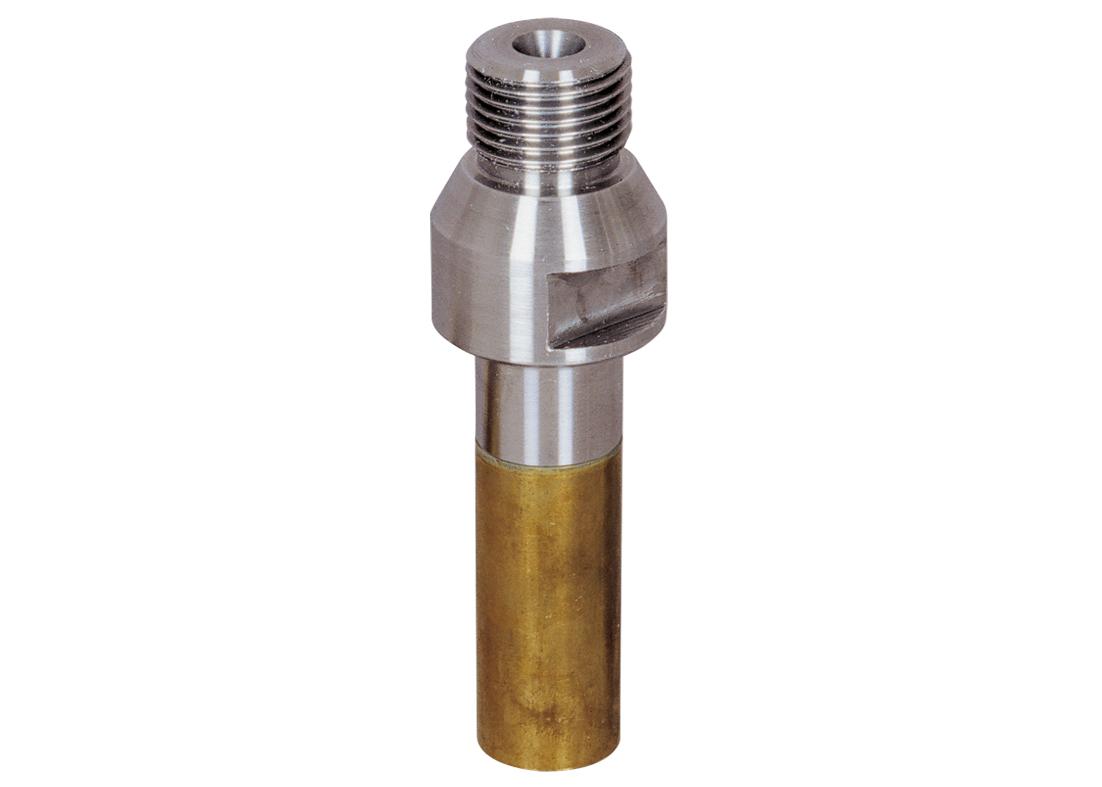 """Aufnahmedorn R1/2"""" für Absenkfräser M12   Arbeitslänge 30 mm   mit Messinghülse"""