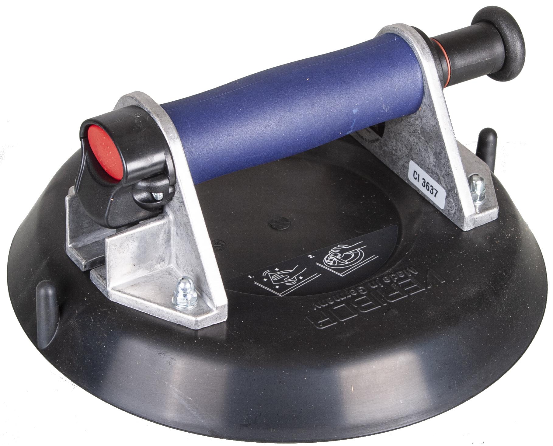 Saugheber KS-Z 1-Kopf | ø220mm |weiche Dichtlippe | mit Handpumpe | 80kg