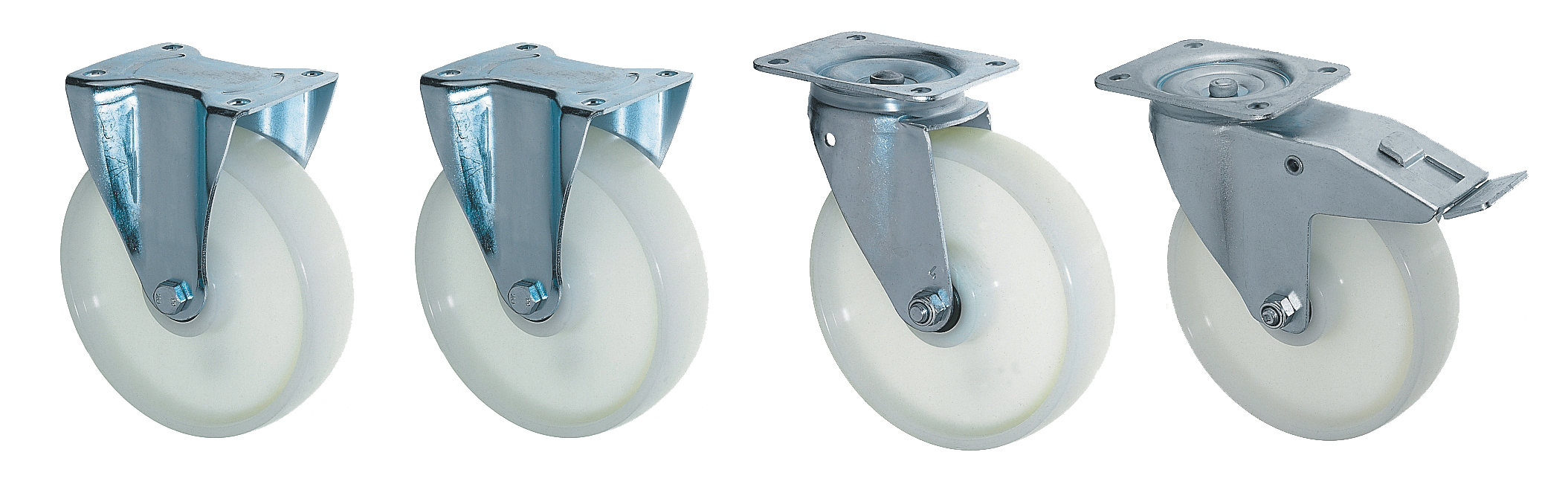 Lenk-u.Bockrollen Set für Kippbehälter EXPO bis max 1350 kg