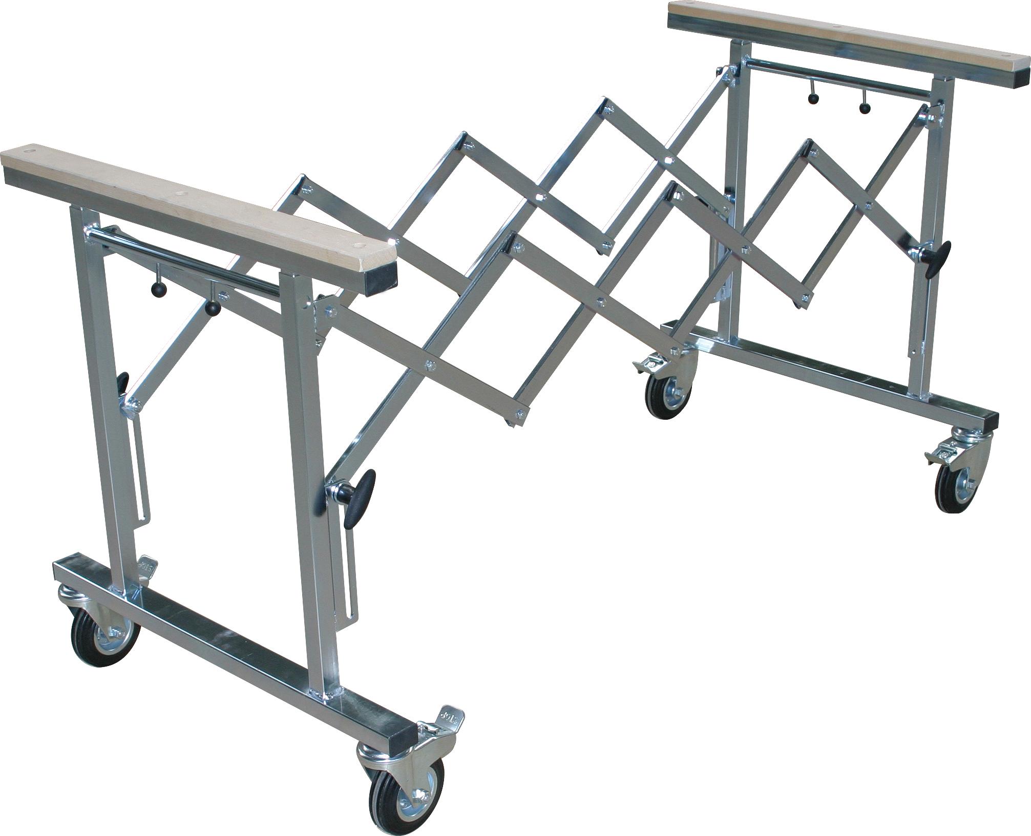 Arbeitswagen verzinkt │ausziehbar und höhenverstellbar │ 350kg