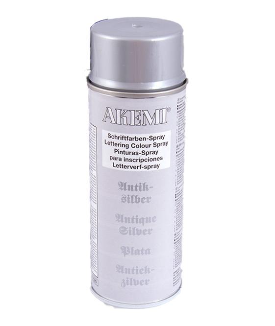 Akemi Schriftfarben-Sprühdose 400ml | Antik-Silber