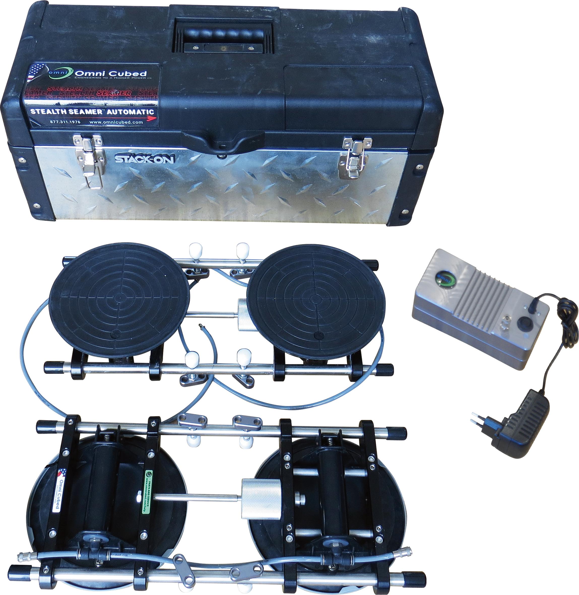 Omni Cubed Pro Stealth Seamer Automatic | 8 Saugplatten ø200mm | Pumpe 230 Volt