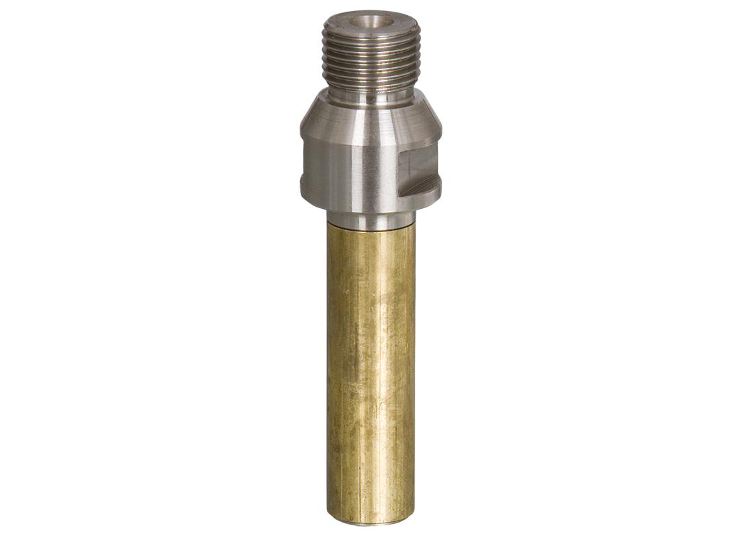 """Aufnahmedorn R1/2"""" für Absenkfräser M12   Arbeitslänge 40 mm   mit Messinghülse"""