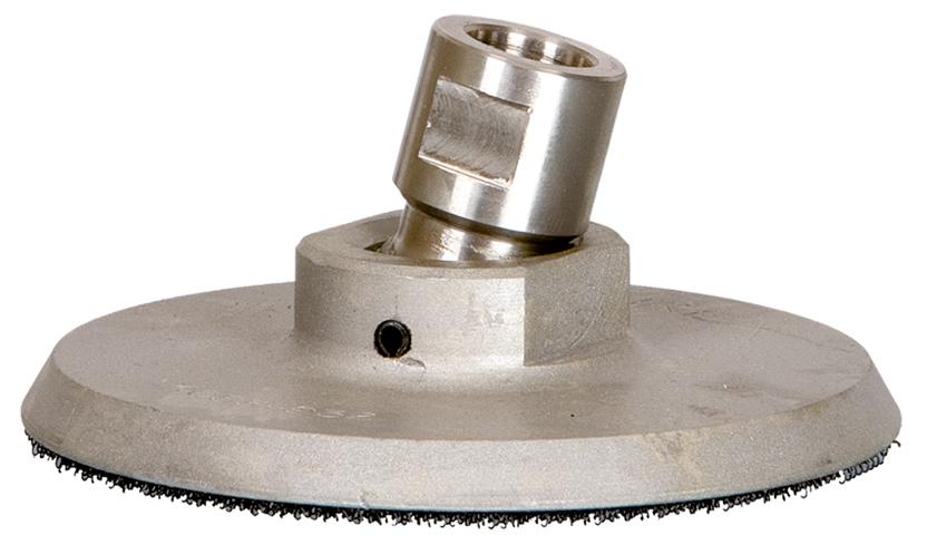 Aufnahmeteller M14   Aluminium   ø 95 mm   Klett   schwenkbar mit Kugelgelenk