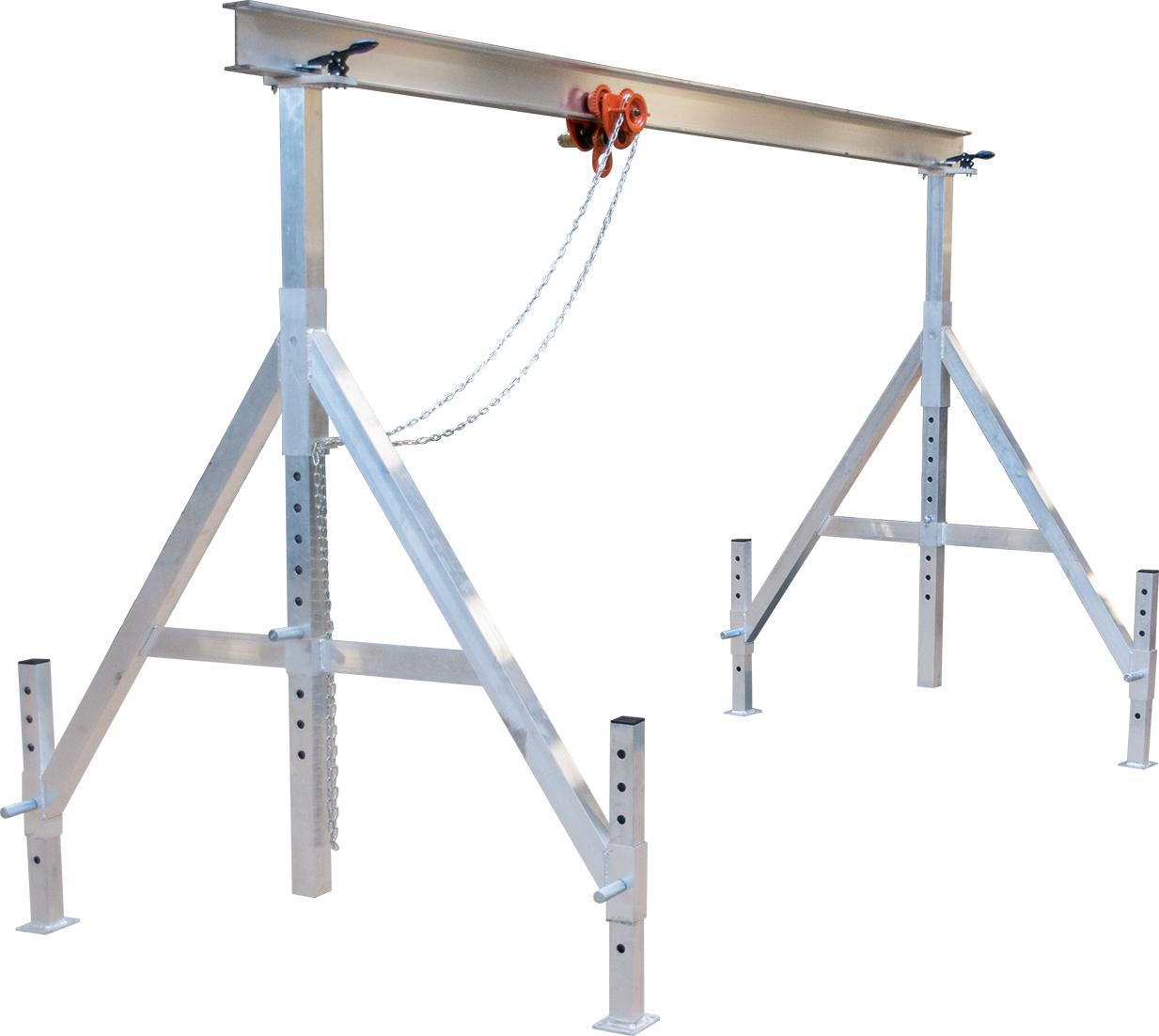 Portalkran ALU-MAX 1,0 t   Trägerlänge 5 m