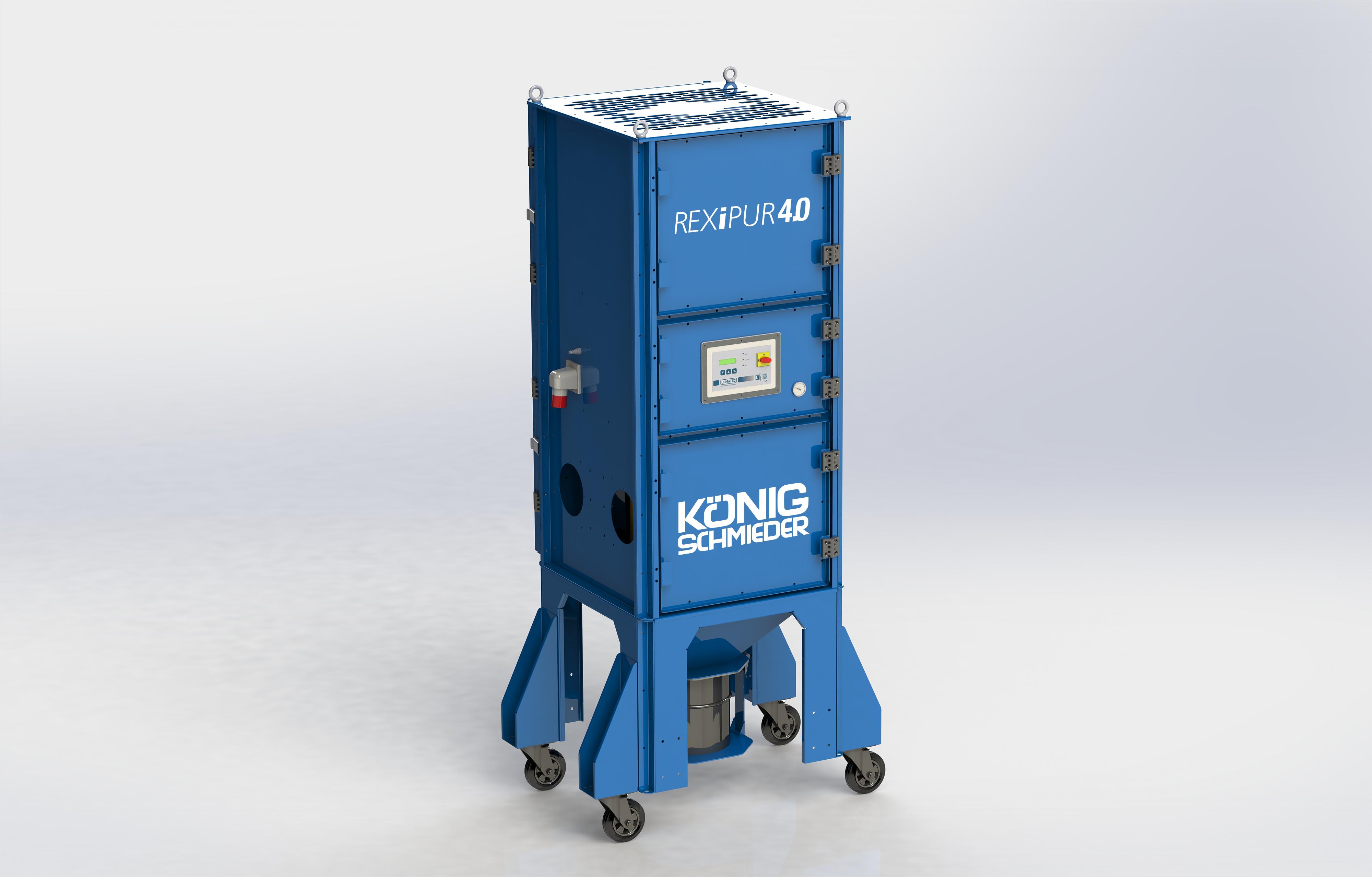 Mobiler Arbeitsplatzentstauber REXIPUR 4.0 Grundgerät / pneumatische Filterabreinigung
