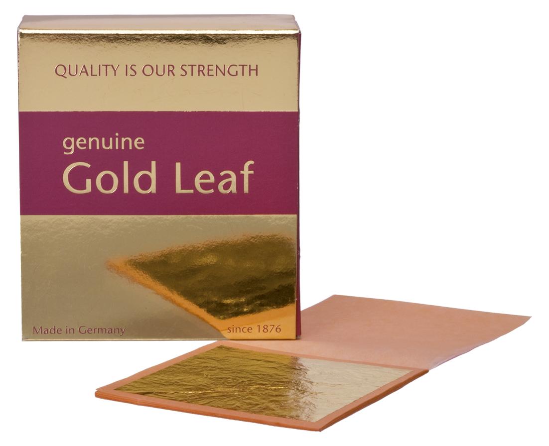 Blattgold 23 3/4 Karat | 80 x 80 mm | Normal | Buch | Standard Qualität