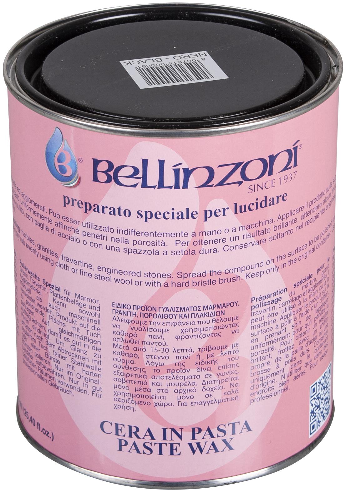 Bellinzoni Polierwachs schwarz 1,05 kg