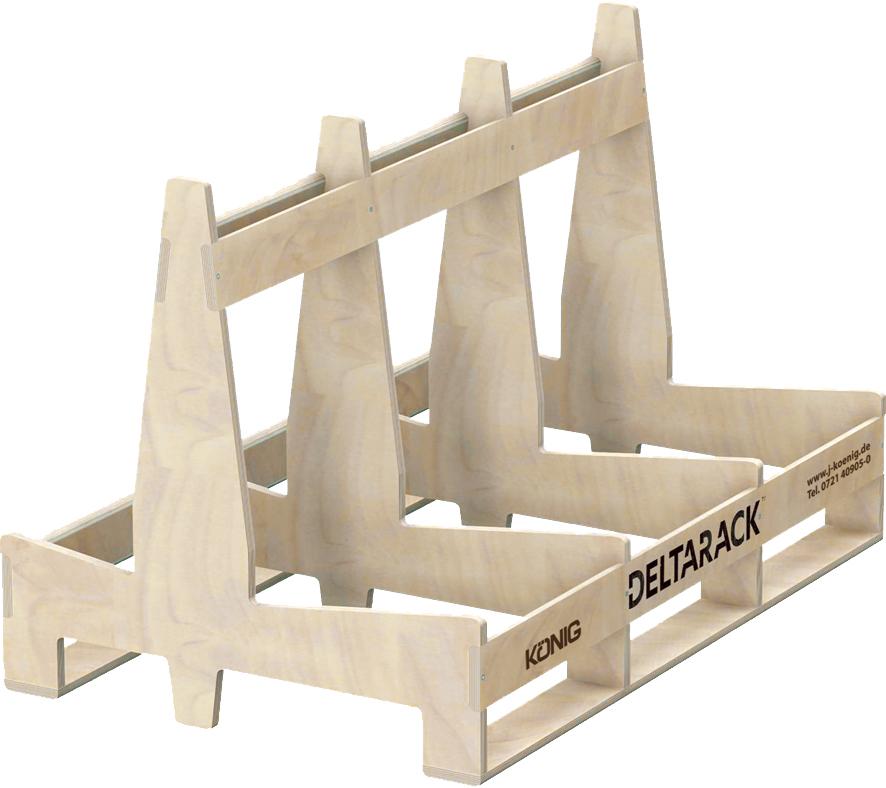 Deltarack Transportgestell Holz B3 1200 x 770 x 780 mm | 1000kg