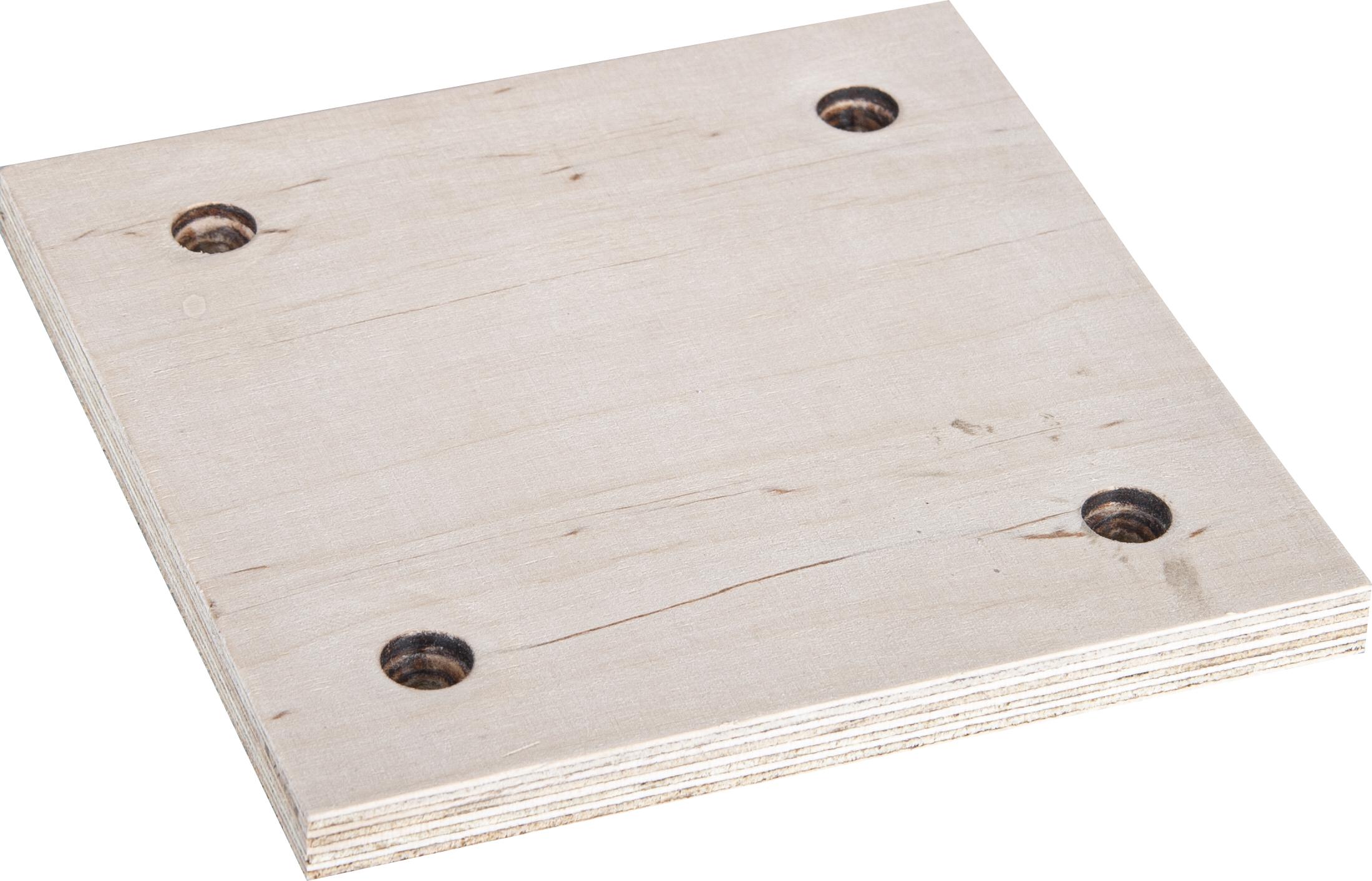 Holz-Platte 150x150mm für Grabmalplattengreifer GPM 400