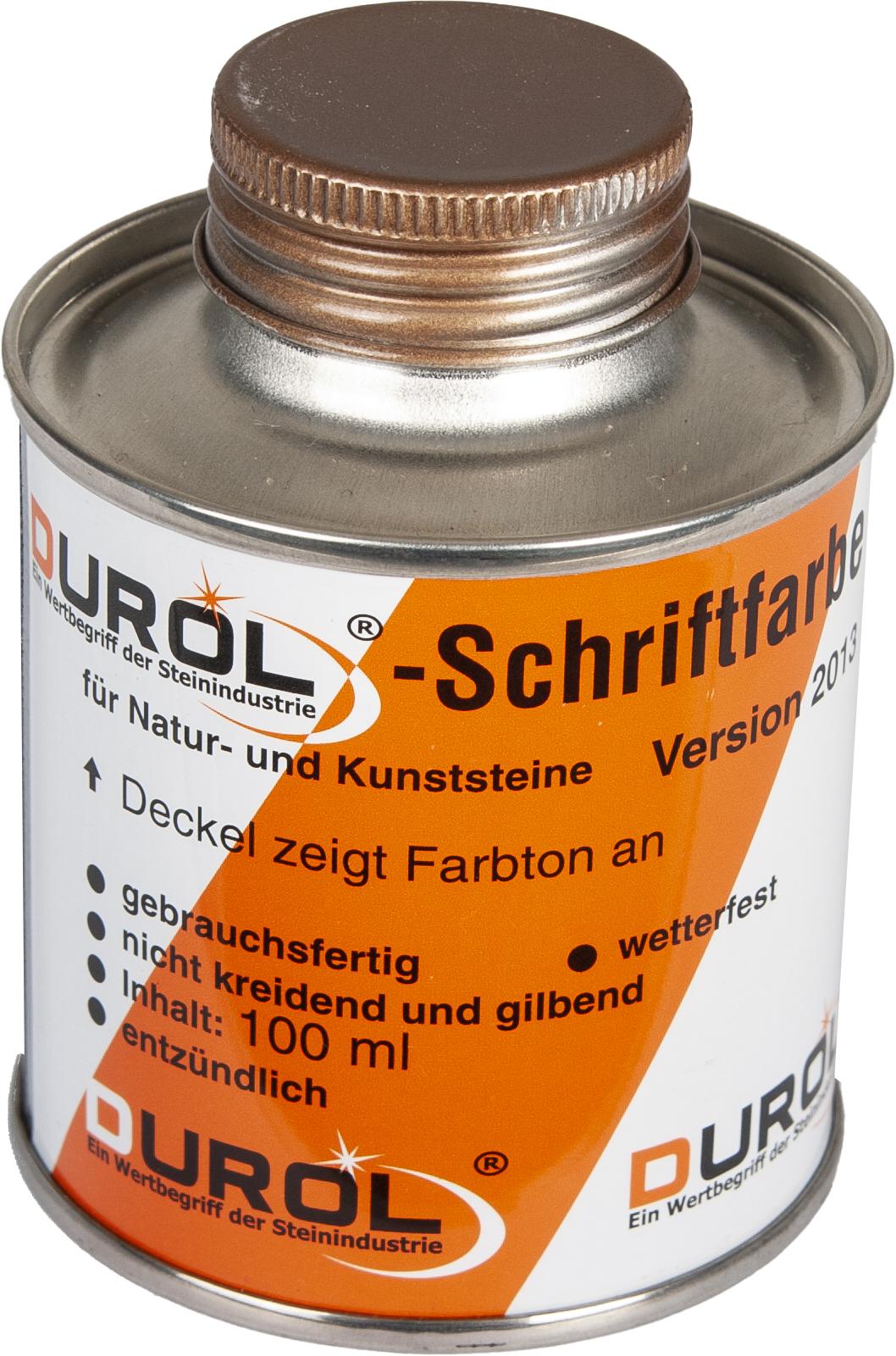 Durol Schriftfarbe 100 ml   Bronze