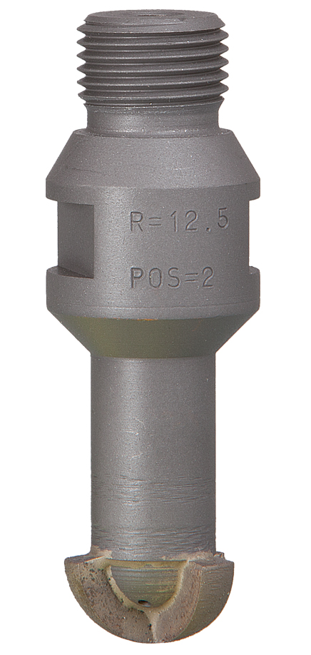 Wasserrillenfräser R12.5 | Korn 1