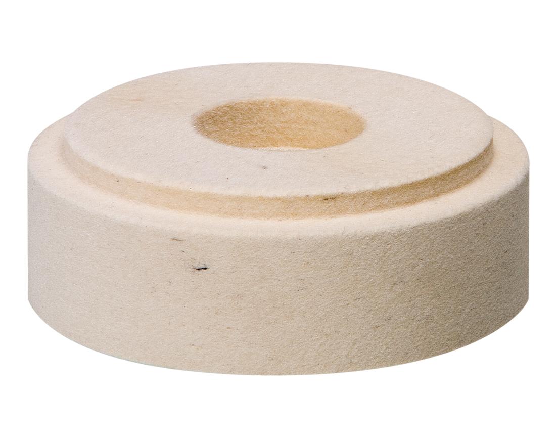 Filz Polierscheibe weiss │ ø 100/130x35 mm