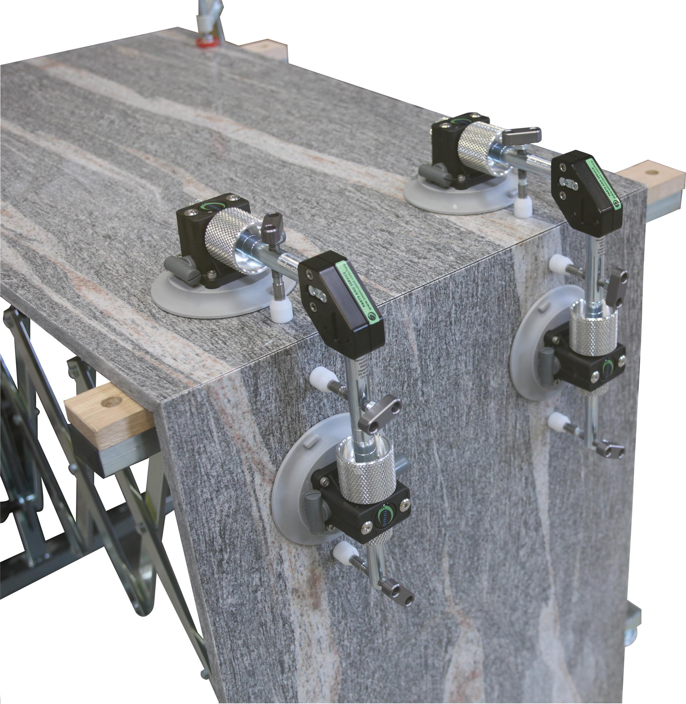 Omni Cubed 90° Stealth Seamer manual | 4 Saugplatten ø130mm