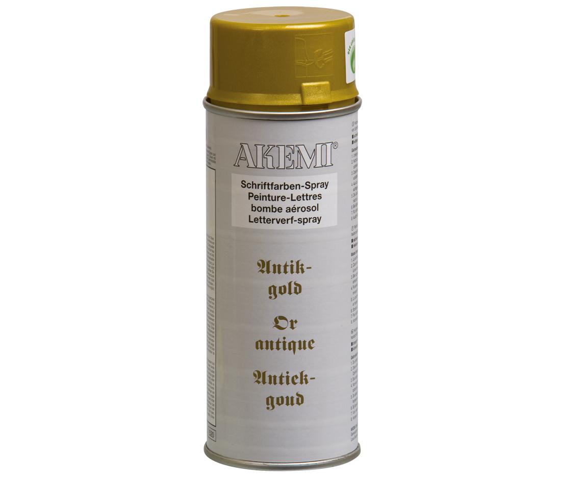 Akemi Schriftfarben-Sprühdose 400ml | Antik-Gold