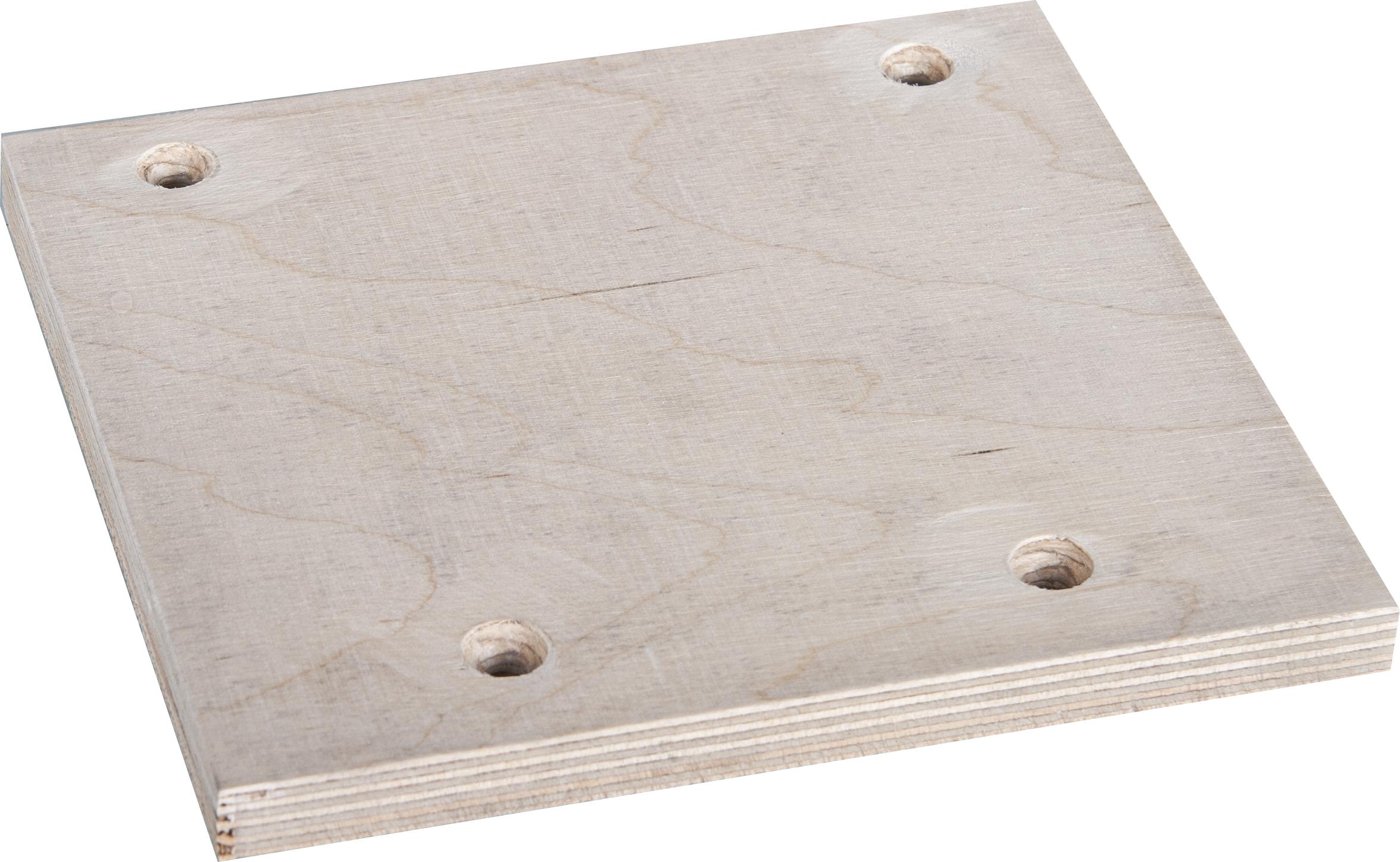 Holz-Platte 170x160mm für Grabmalplattengreifer GPM 1000