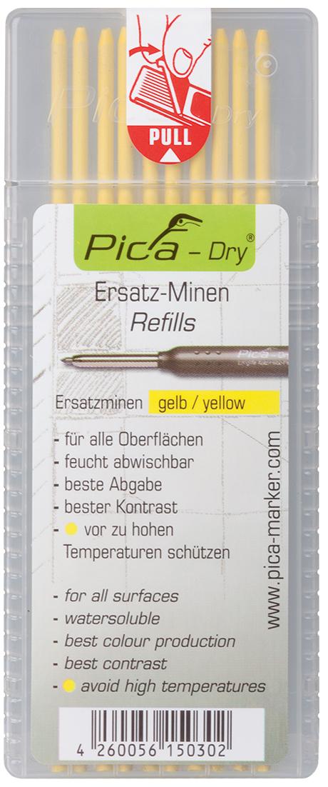 Ersatzminen Pica Dry Marker | Gelb | Abwischbar